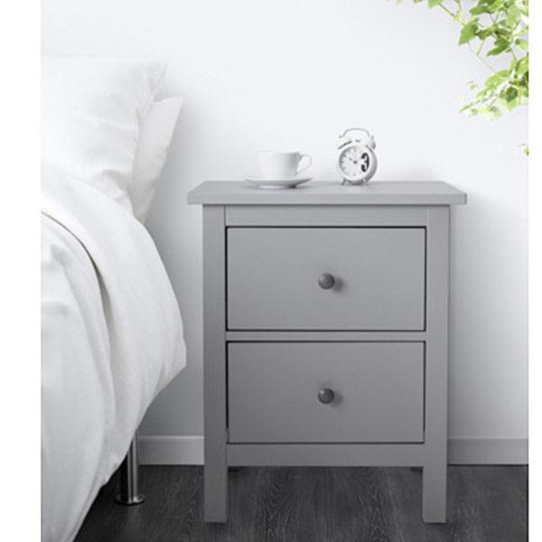 Arbeitszimmer ikea hemnes  IKEA HEMNES Kommode mit 2 Schubladen grau Nachtkonsole Nachttisch ...