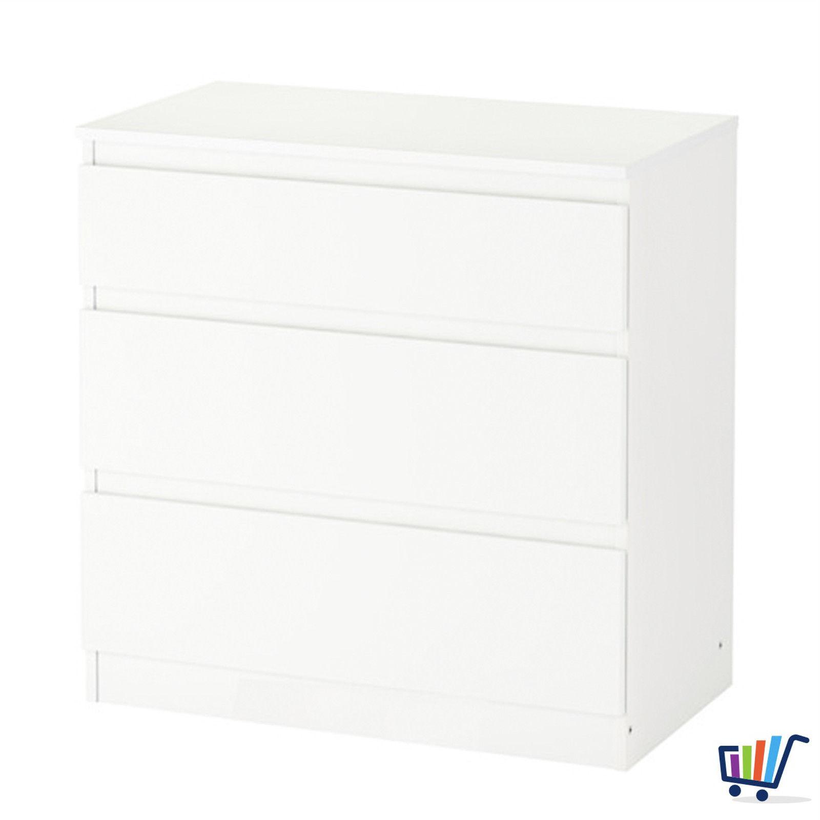 IKEA KULLEN weiß Kommode mit 3 Schubladen Schrank Kleiderschrank 70x72 cm  NEU