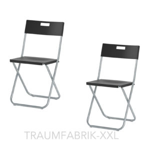 2 ikea klappst hle klappstuhl b ro konferenz besucher stuhl set klappbar schwarz traumfabrik xxl. Black Bedroom Furniture Sets. Home Design Ideas