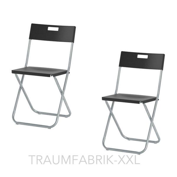 2 ikea klappst hle klappstuhl b ro konferenz besucher stuhl set klappbar schwarz traumfabrik xxl. Black Bedroom Furniture Sets. Home Design Ideas