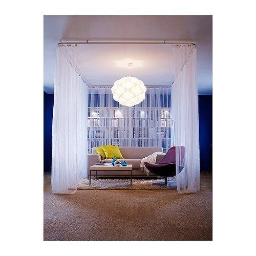 ikea 2x gardinenschals gardinenschal vorhang schlaufenschal gardine wei 280 300 traumfabrik xxl. Black Bedroom Furniture Sets. Home Design Ideas