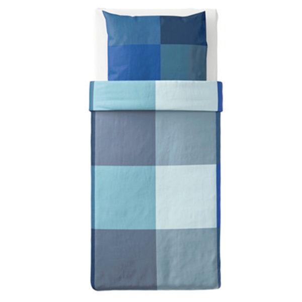 ikea brunkrissla bettw sche 140 200 cm bettw scheset garnitur blau grau neu ovp traumfabrik xxl. Black Bedroom Furniture Sets. Home Design Ideas
