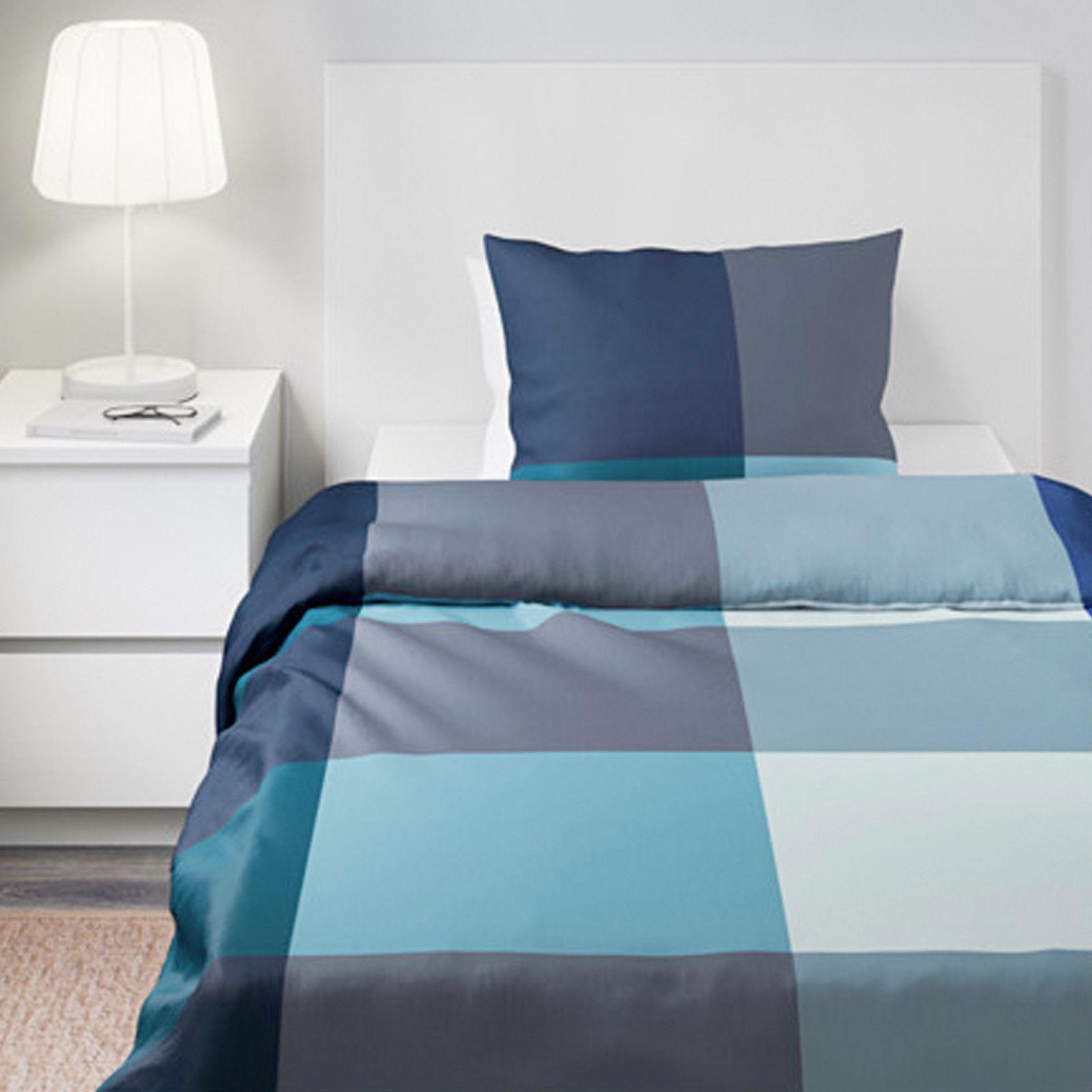 Ikea Brunkrissla Bettwäsche 140200 Cm Bettwäscheset Garnitur Blau