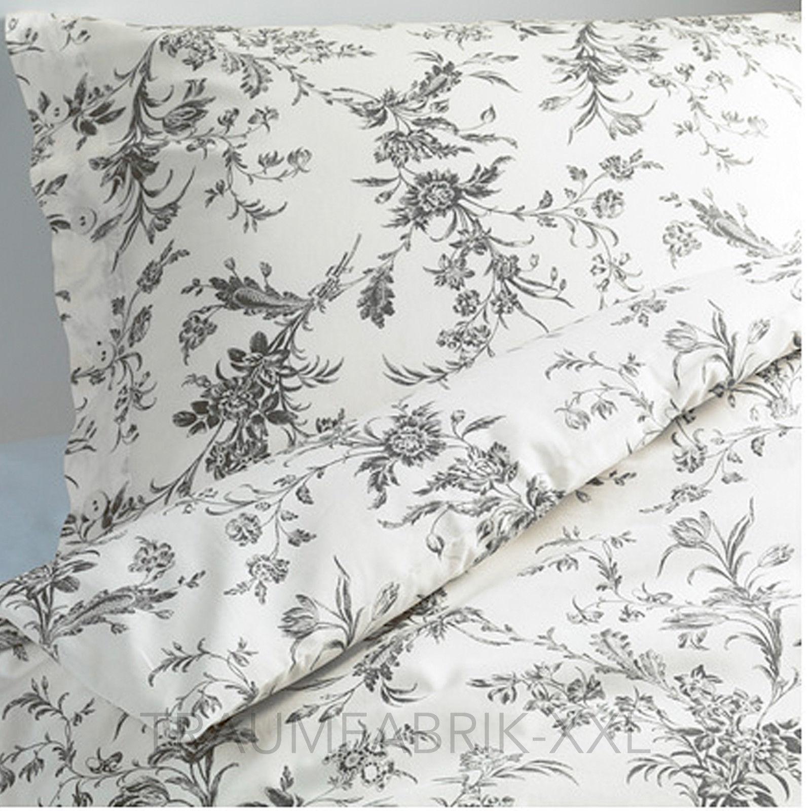 ikea designer bettw sche set bettgarnitur baumwolle 140 200 cm landhaus wei neu traumfabrik xxl. Black Bedroom Furniture Sets. Home Design Ideas
