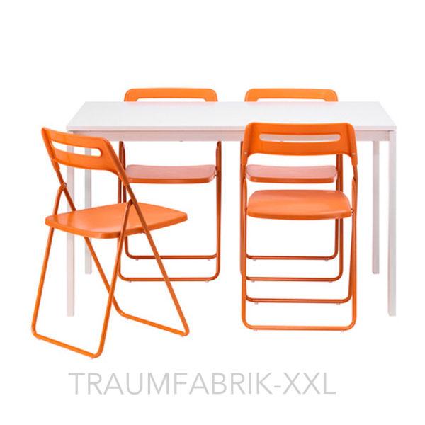 IKEA-Essgruppe-Tischgruppe-Esszimmer-Esszimmergarnitur-Tisch-und-4-Sthle-wei-251922874378