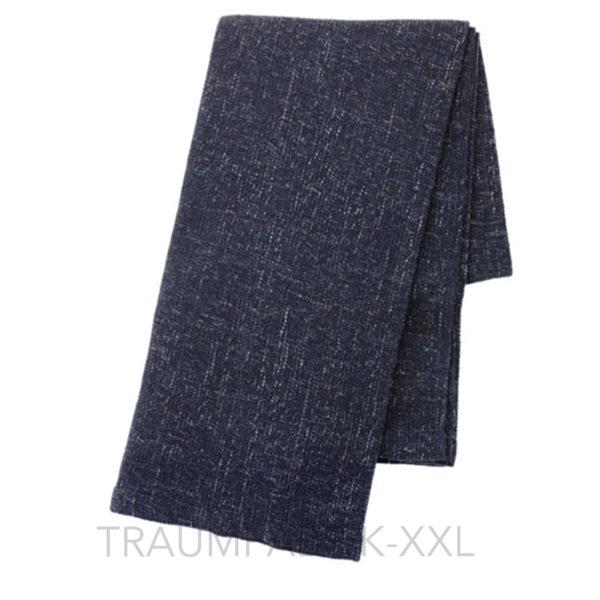 ikea gurli schwarz blau tagesdecke 120x180cm kuscheldecke plaid wolldecke neu traumfabrik xxl. Black Bedroom Furniture Sets. Home Design Ideas