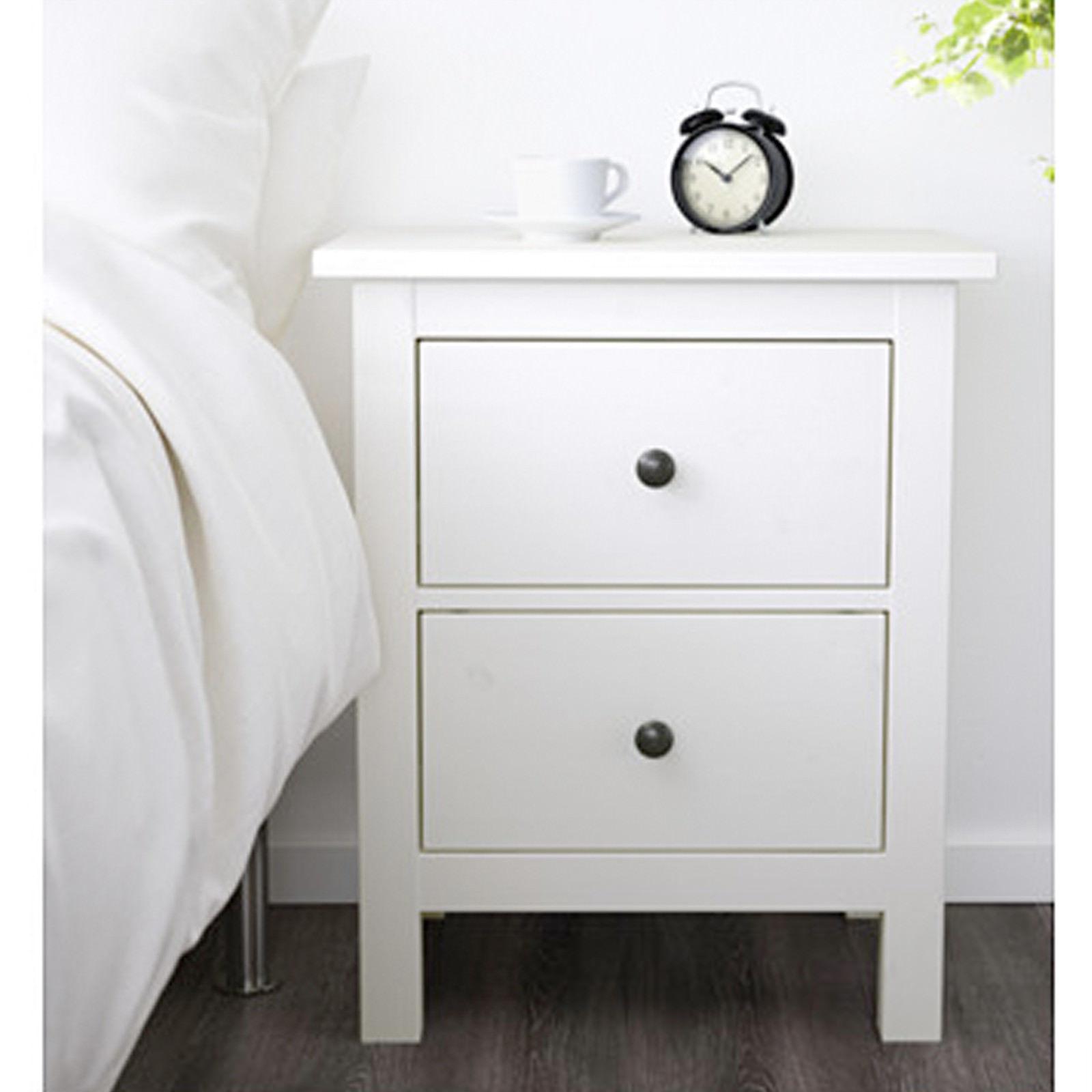 ikea hemnes kommode mit 2 schubladen wei nachtkonsole nachttisch schrank neu traumfabrik xxl. Black Bedroom Furniture Sets. Home Design Ideas