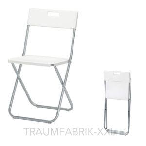 ikea klappstuhl klappst hle b ro konferenz besucher stuhl set klappbar wei neu traumfabrik xxl. Black Bedroom Furniture Sets. Home Design Ideas