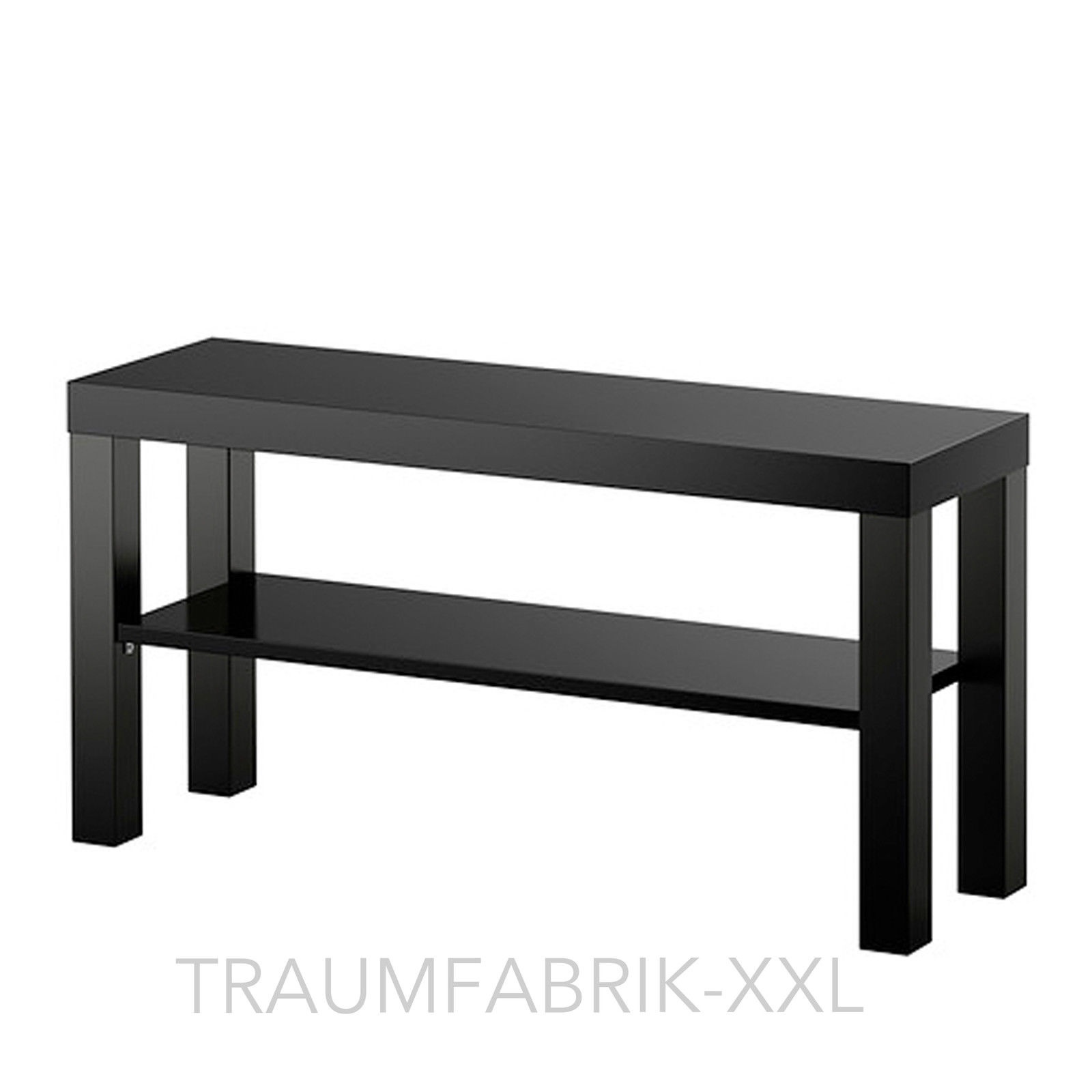 ikea lack tv bank fernsehtisch lowboard hifi regal 90 x 26 cm schwarz tv bank traumfabrik xxl. Black Bedroom Furniture Sets. Home Design Ideas