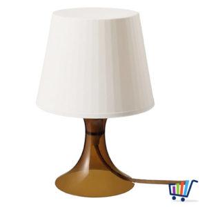 ikea lampan tischlampe braun nachttischlampe regalleuchte wohnzimmerleuchte neu traumfabrik xxl. Black Bedroom Furniture Sets. Home Design Ideas