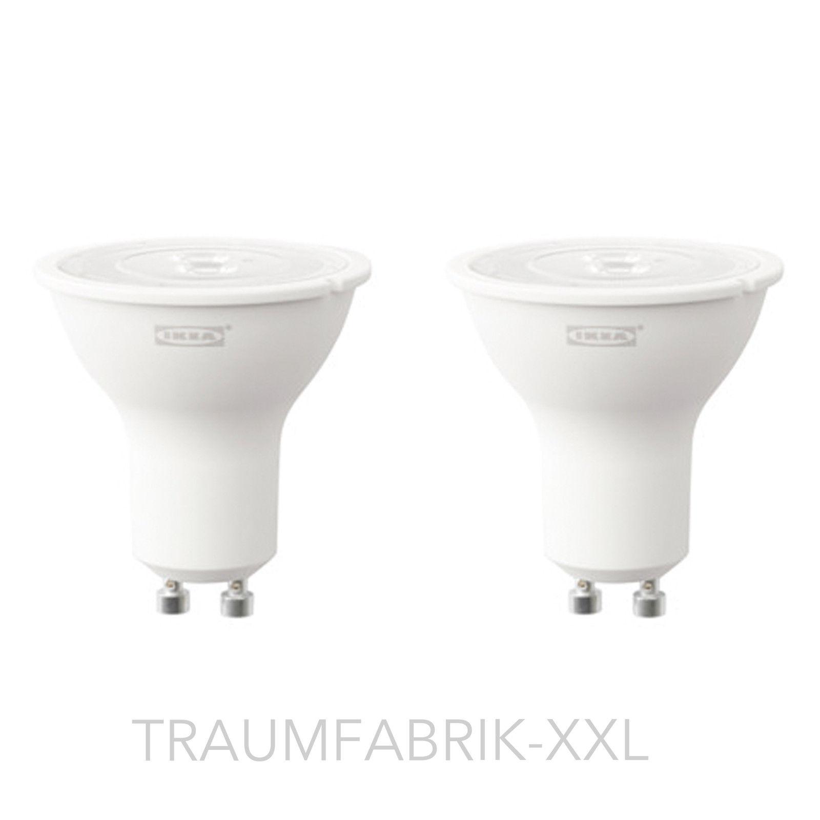 ikea ryet 2 st ck led lampe lampen gu10 3w 200 lm leuchtmittel spots neu ovp traumfabrik xxl. Black Bedroom Furniture Sets. Home Design Ideas