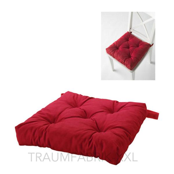 ikea sitzkissen stuhlkissen softkissen kissen 40 40 cm 7cm dick neu rot red traumfabrik xxl. Black Bedroom Furniture Sets. Home Design Ideas