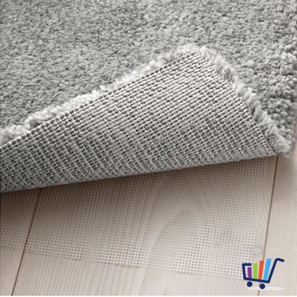 Ikea Stoense Kurzflor Teppich Shaggy Grau 133 195 Cm Flauschig Weich