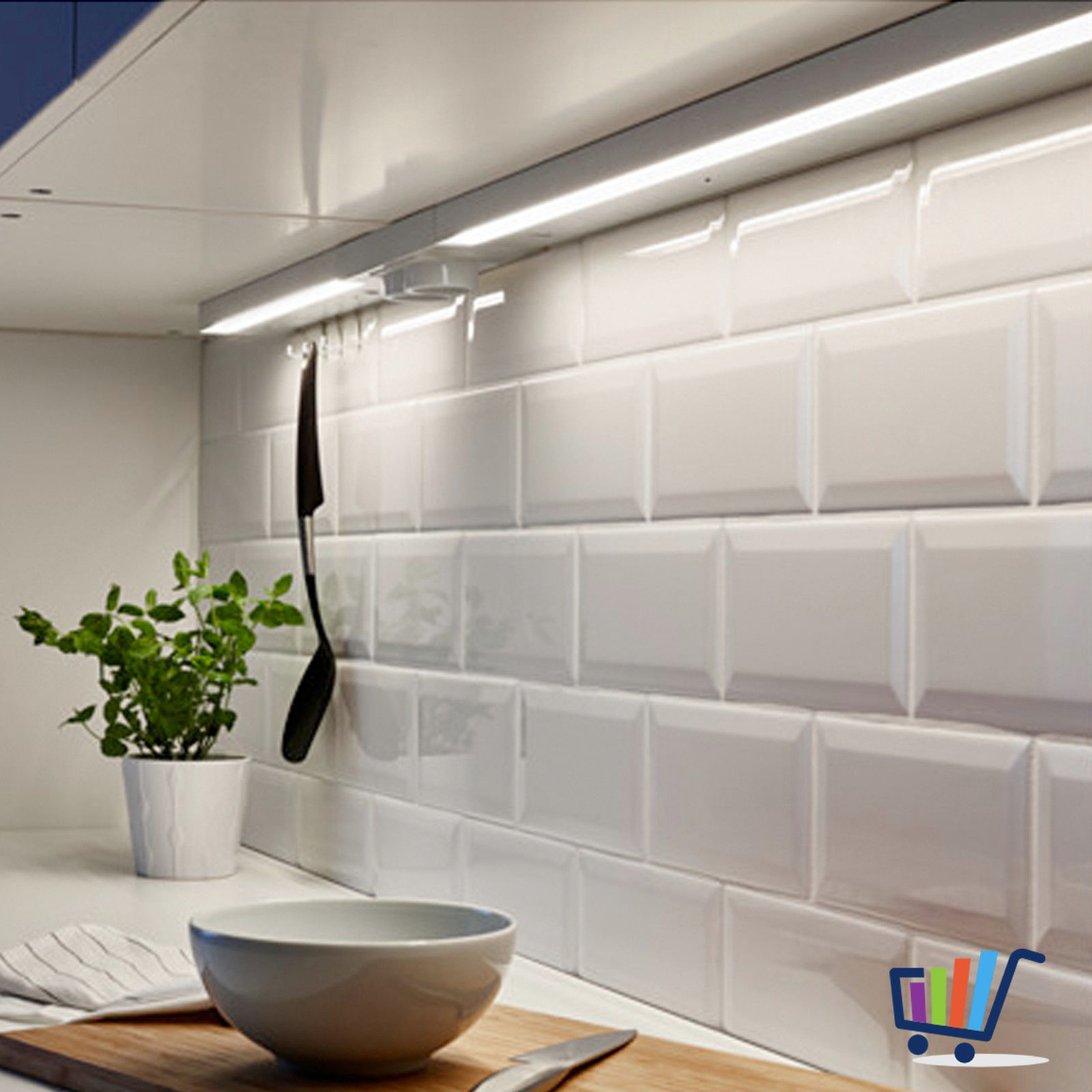 ikea utrusta lichtleiste arbeitsleuchte k chen led beleuchtung 80cm dimmbar neu traumfabrik xxl. Black Bedroom Furniture Sets. Home Design Ideas