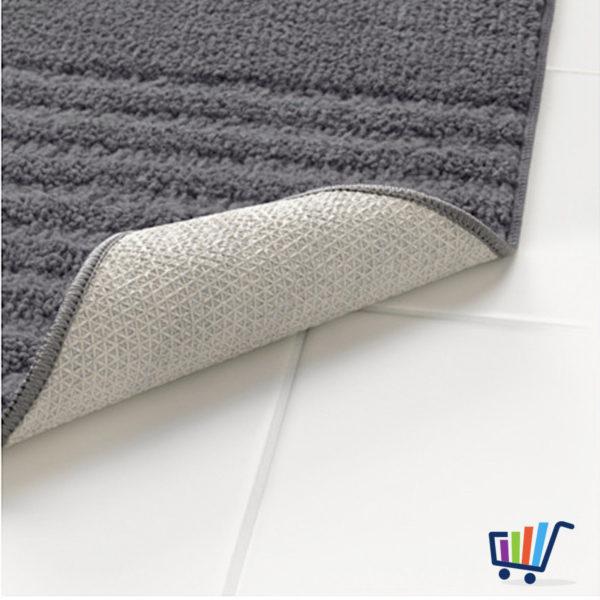 IKEA VOXSJÖN Duschmatte 40×60 cm grau Matte Vorleger Badezimmermatte ...