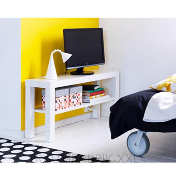 ikea fernsehtisch weiss tv regal wohnzimmerregal 90 x 26 cm wohnzimmer lack neu traumfabrik xxl. Black Bedroom Furniture Sets. Home Design Ideas