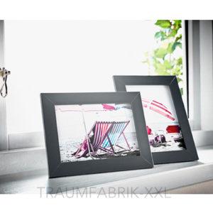 2 x bilderrahmen 13 18 cm schwarz holzbilderrahmen holzrahmen rahmen fotorahmen traumfabrik xxl. Black Bedroom Furniture Sets. Home Design Ideas