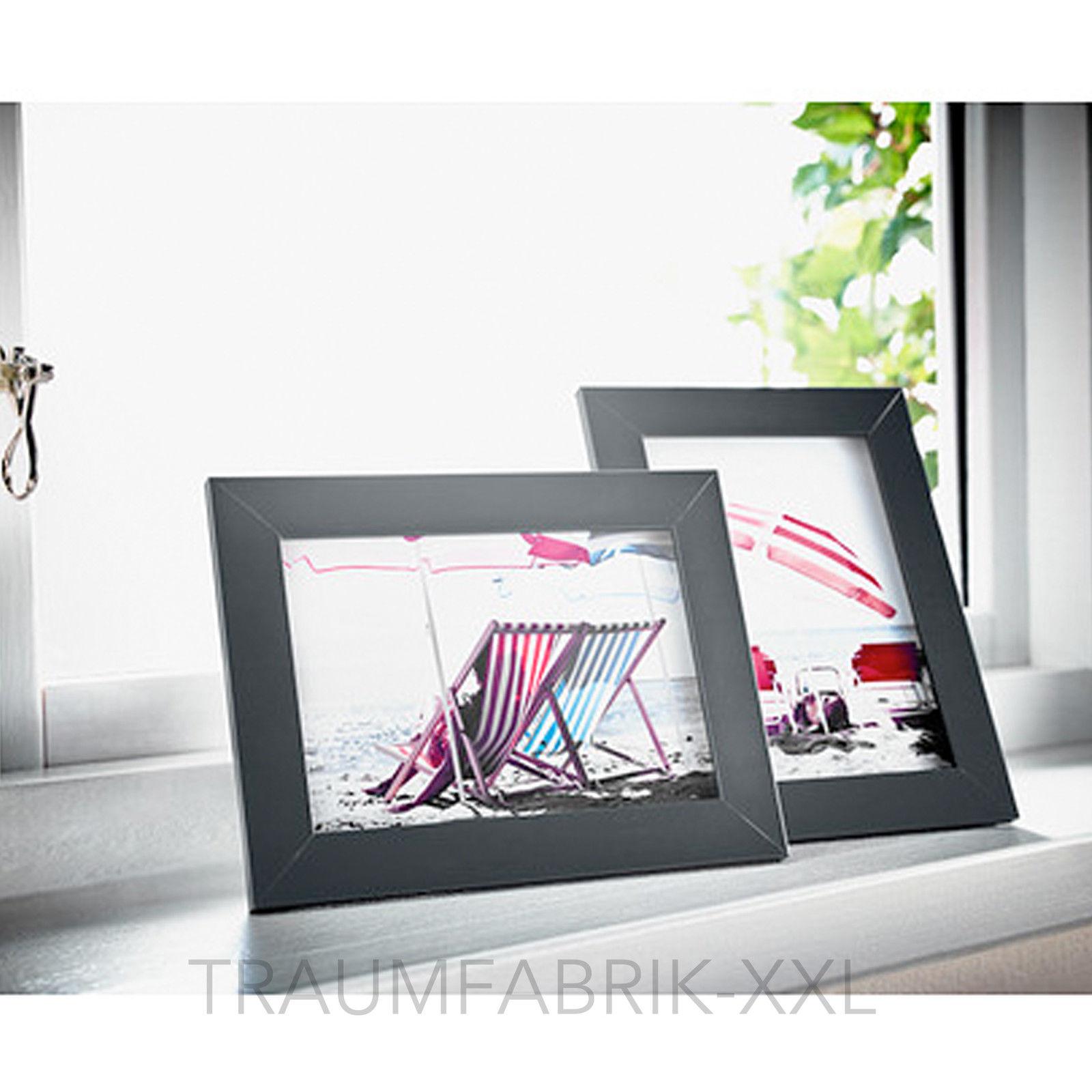 2 x bilderrahmen 13 18 cm schwarz holzbilderrahmen. Black Bedroom Furniture Sets. Home Design Ideas