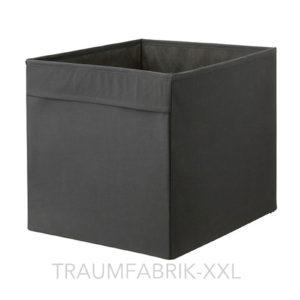 aufbewahrungsboxen aufbewahrungsbox regalbox f r expedit 33 33 cm schwarz neu traumfabrik xxl. Black Bedroom Furniture Sets. Home Design Ideas