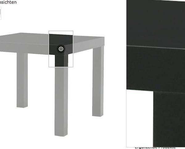 couchtisch beistelltisch tisch schwarz 55x55cm neu ovp traumfabrik xxl. Black Bedroom Furniture Sets. Home Design Ideas