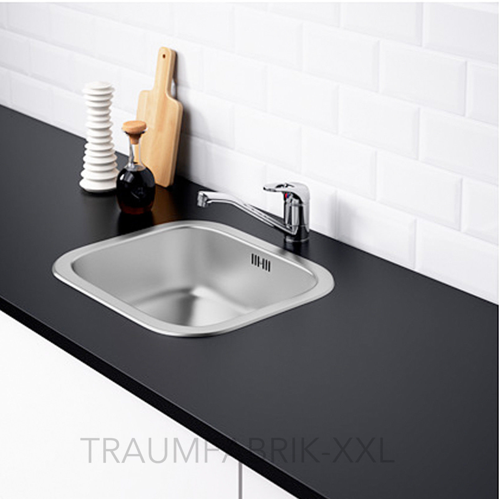IKEA FYNDIG Spülbecken Spüle Einbauspüle Küchenspüle Edelstahl ...