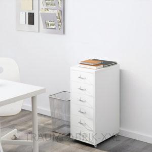 ikea helmer schubladenelement mit rollen b roschrank wei b rocontainer neu ovp traumfabrik xxl. Black Bedroom Furniture Sets. Home Design Ideas