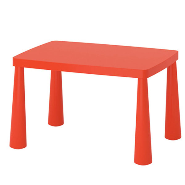 ikea kindertisch mammut in rot orange 77x55cm kinderm bel. Black Bedroom Furniture Sets. Home Design Ideas