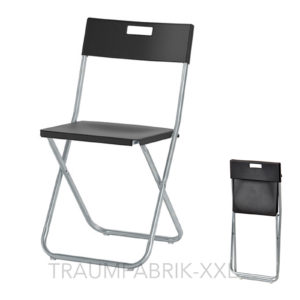 ikea klappstuhl klappst hle b ro konferenz besucher stuhl set klappbar schwarz traumfabrik xxl. Black Bedroom Furniture Sets. Home Design Ideas