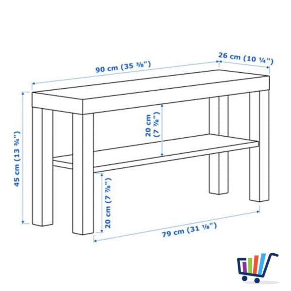 Ikea Lack Tv Bank Schwarz 90 26 Fernsehtisch Lowboard Hifi Regal